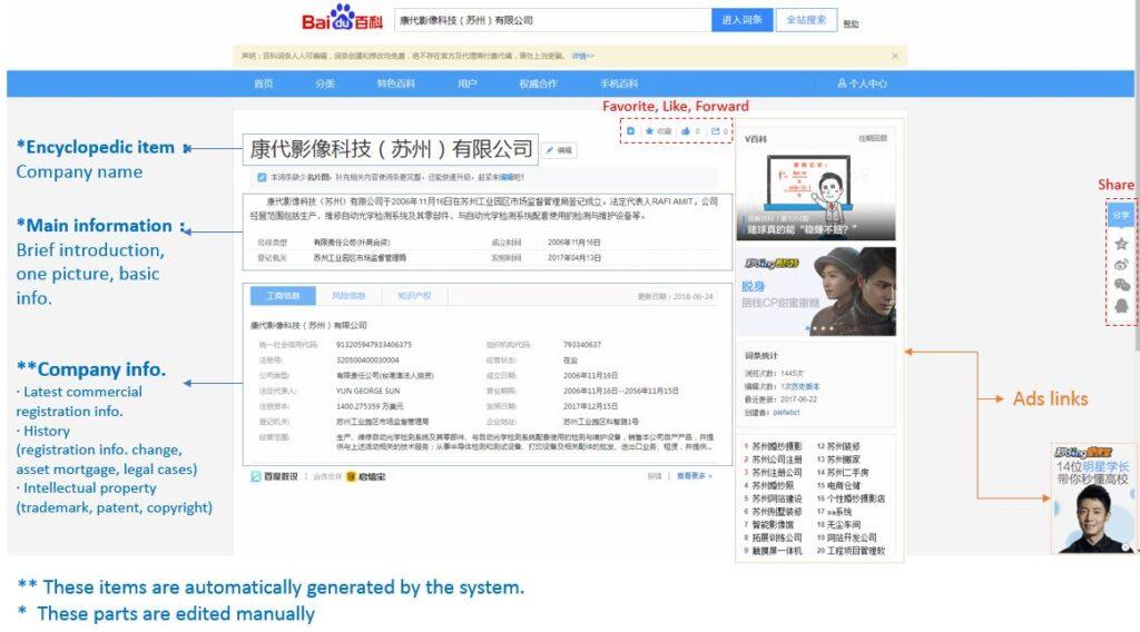 Cuáles son las mejores plataformas online para el B2B en China - vender a través de Baidu Baike